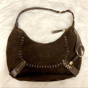 Cole Haan Collection H05 Chocolate Suede Hobo Bag